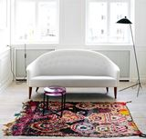 Arched Back Sofa with Boucherouite Rug