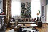 Artistic Living Room Featuring Sofa with Contrast Cushions