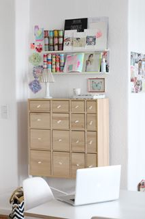 Photo of Bedroom with Beautiful Sectioned Workspace