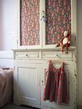 Bedside Dresser with Floral Pattern