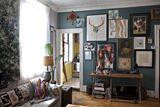 Boho Rocker Chic Restored Apartment Living Room