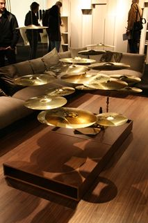 Photo of Coffee Table with Floating Drum Cymbals