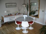 Contemporary Dining Room with Tulip Table and Chairs