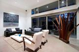 Contemporary Living Room with Open Patio