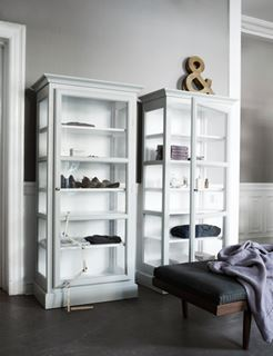 Photo of Contemporary Twin White Glass Pantries