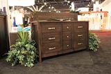 Dark Brown Modern Country Style Dresser