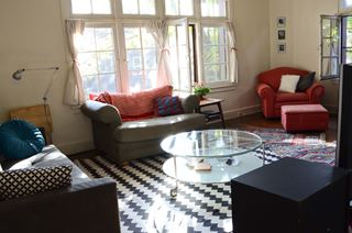 Photo of Distressed Creative Space Living Room