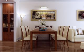 Photo of Elegant Modern Dining Room by Vu Dang Khoi