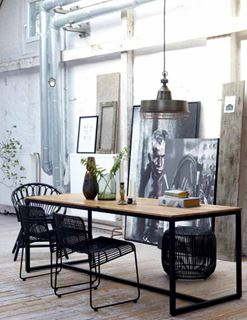 Photo of Faux Industrial Modern Dining Space