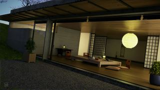 Photo of Japanese Inspired Living Room Render