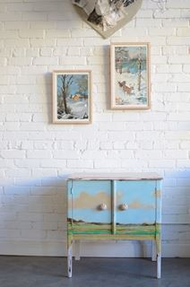 Photo of Landscape Painted End Table