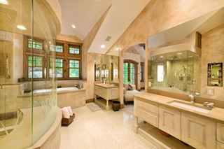 Photo of Large Indoor Bathroom at Ski Resort