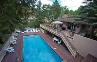 Photo of Large Outdoor Private Pool at Ski Resort