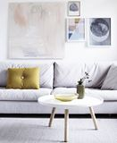 Lovely Modern Living Room with Pastel Wall Art