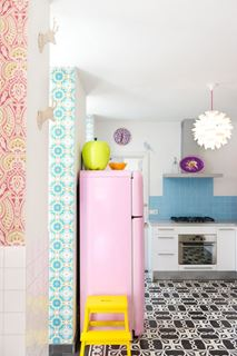 Photo of Mixed Style Kitchen with Muted Pastels