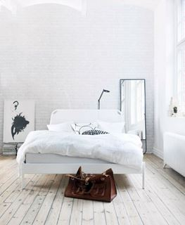 Photo of Modern Bedroom with White Bricks