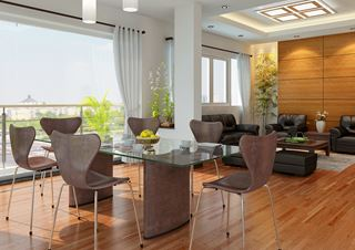 Photo of Modern Condo Dining Room by Vu Dang Khoi