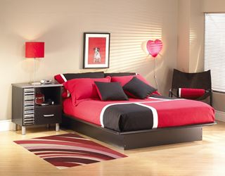 Photo of Modern Red Couture Living Room