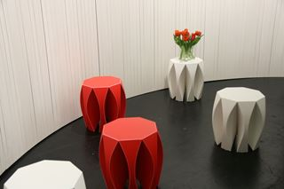 Octagonal Side Tables with Flared Legs