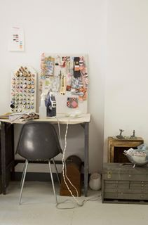 Photo of Old Fashioned Inspired Textile Work Area