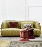 Plush Tufted Sofa with Unique Color Palette and Patterns