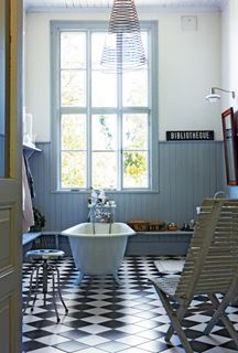 Photo of Restored Swedish Schoolhouse Bathroom