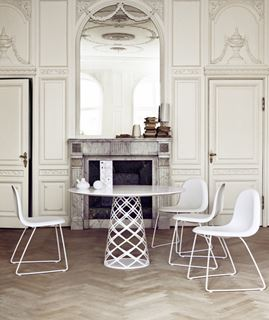 Photo of Traditional French Style Dining Area with Modern Furnishings
