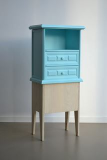 Photo of Turquoise Wooden Tall Dresser