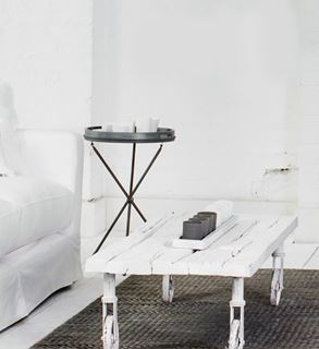 Photo of White Wash Painted Wheel Coffee Table