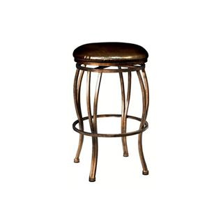 Photo of Madrid Bronze Metal Bar Stool with Leather Seat