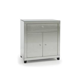 Photo of Giza Mirror Bedside Chest with Cabinets