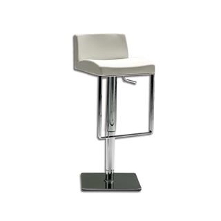 Photo of Astro White Leather Adjustable Bar Stool