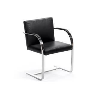 Photo of Brno Black Contemporary Leather Chair
