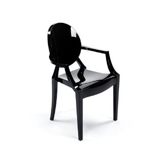 Photo of Casper Replica Ghost Chair Black Plastic
