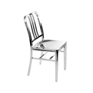 Army Chair Polished Stainless Steel