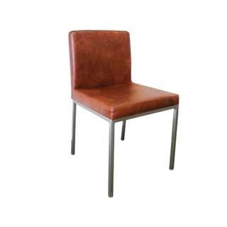 Photo of Bistro Brown Cognac Leather Dining Chair