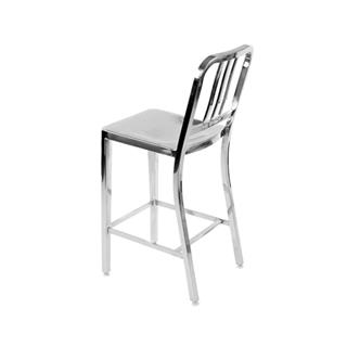 Army Bar Stool Polished Stainless Steel