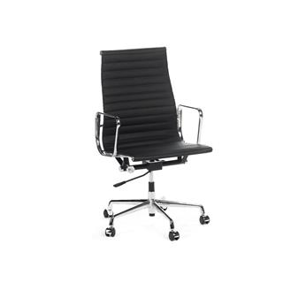 Photo of Aluminum Highback Black Office Chair