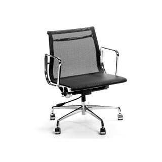 Photo of Aluminum & Mesh Lowback Black Office Chair
