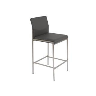 Angle Leather Counter Stool