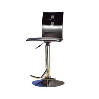 Photo of Adjustable Height Bar Stool Clear Black
