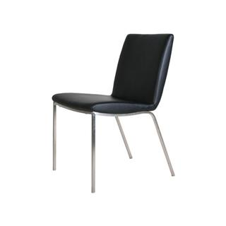 Armless Leather Dining Chair