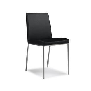 Photo of Black Leather Dining Chair
