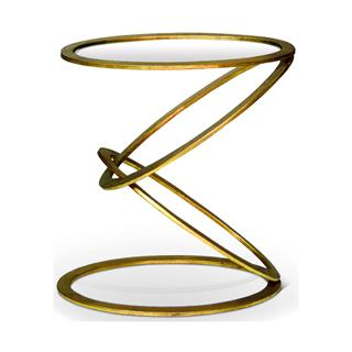 Photo of Mobius Contemporary Gold Leaf End Side Table