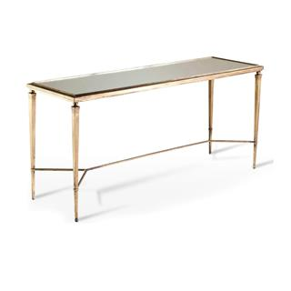 Photo of Alina Elegant Console Table Antique Gold & Mirror Leaf
