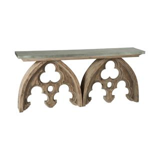 Photo of Gothic Arch French Cathedral Console Table Tin Top