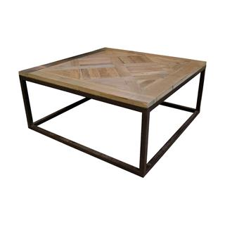 Gramercy Coffee Table Reclaimed Parquet Wood