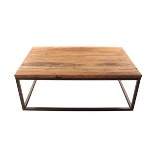 Solid Chunky Large Coffee Table Reclaimed Elm Wood