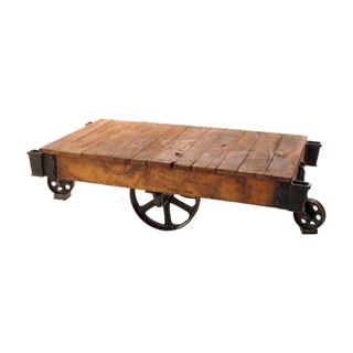 Railroad Cart Coffee Table Reclaimed Wood