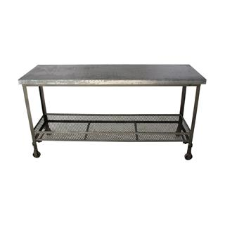 Photo of Urban Mercantile Galvanized Steel Industrial Console Table